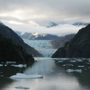 South Sawyer Glacier At The End Of Tracy Arm Fjord