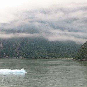 Fog Bank In Tracy Arm Fjord