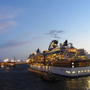 Celebrity Constellation night sailing St Petersburg