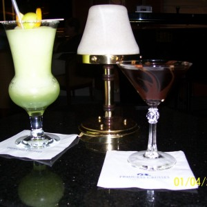 Melon Colada and Chocolate Martini