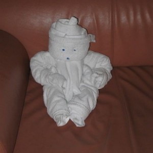 Towel Animal Snowman