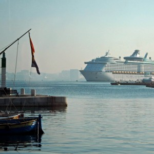 The Med cruise 2010 - Voyager OTS in the harbour