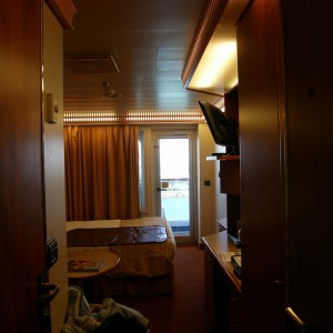 Our Balcony stateroom # 7352 aboard the Carnival Glory
