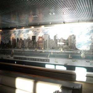 Nieuw Amsterdam Mural in Explorer's Lounge