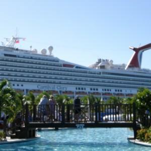 Grand Turk Island aboard the Carnival Glory.