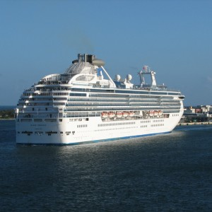 Einstein: Island Princess sailing out of FLL