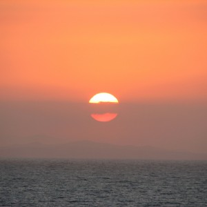 Einstein: 1st. sea day, sunrise