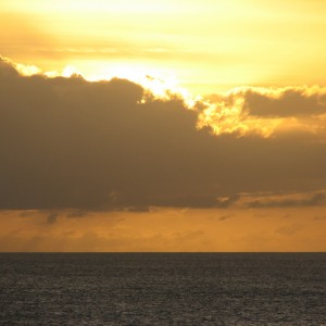 Einstein: barbados sunrise