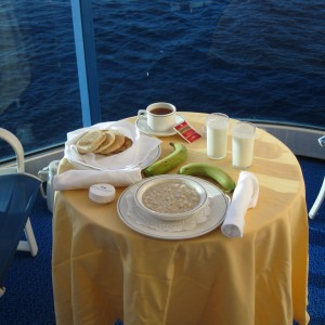 Einstein: 4th sea day. breakfast