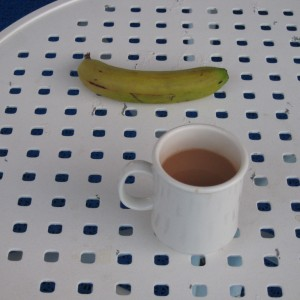 Einstein: Princess cay. breakfast, banana still trying to ripen