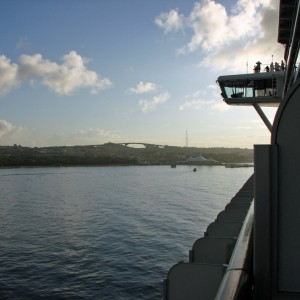 Pulling into Curacao