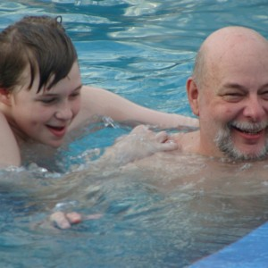 Ryan & Dad in the Venus Pool
