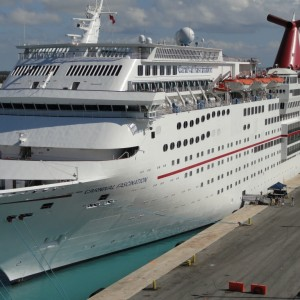 Carnival Fascination docked in Freeport