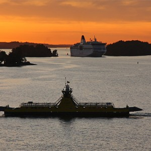 Sunset in Stockholm archipelago