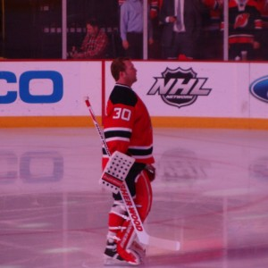Marty during the National Anthem