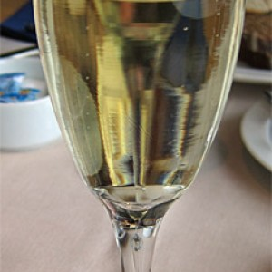 Sparkling Wine for breakfast on Silja Serenade