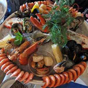 Sea food platter on Silja Serenade