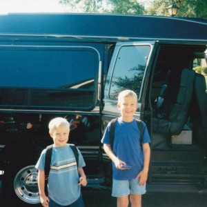 Ryan & Kevin board the Limo Van