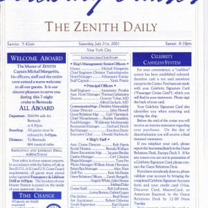 The Zenith Daily - Welcome Aboard!!