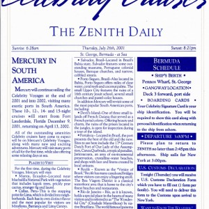 The Zenith Daily - St. George, Bermuda   Day 2