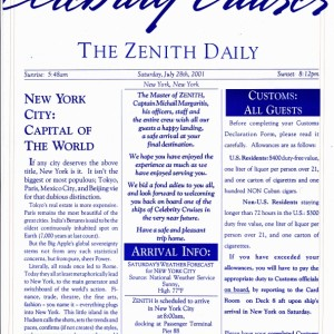 The Zenith Daily - Back in New York