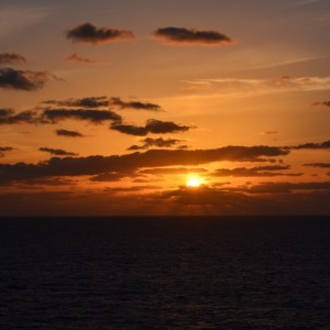 Sunrise and sunset photographs from the Big Easy Cruise
