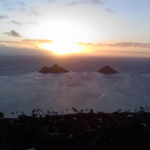 Mokolua Sunrise, Lanikai Hawaii