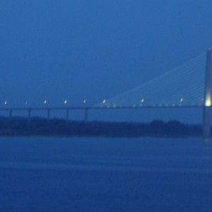Approaching the Dames Point bridge