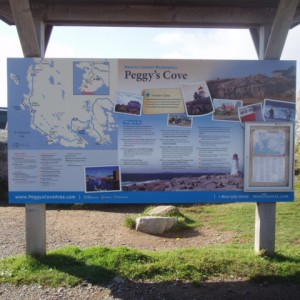 Peggy Cove Sign