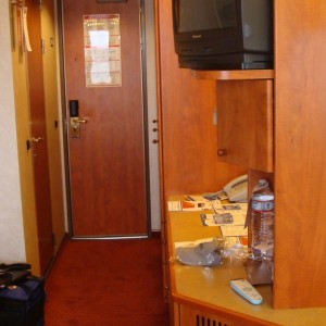 Looking towards the cabin door