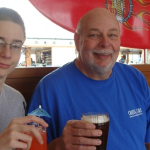 Ryan and Dad's first drinks