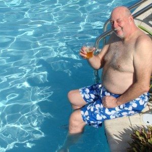 Me by the pool