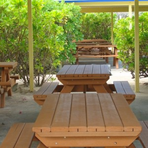 Covered picnic tables