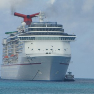 Carnival Pride anchored off of HMC