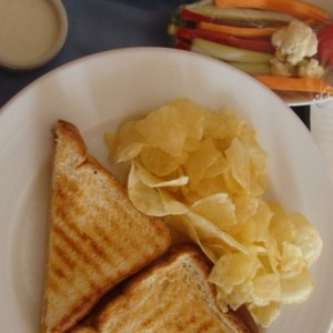 Room Service grilled cheese and veggie platter