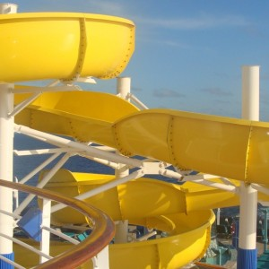 The Twister water slide