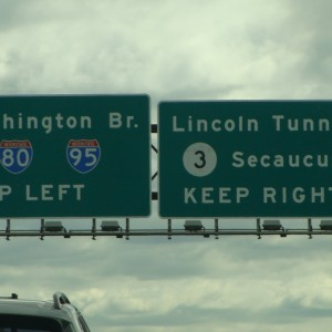 Exit for the Lincoln tunnel