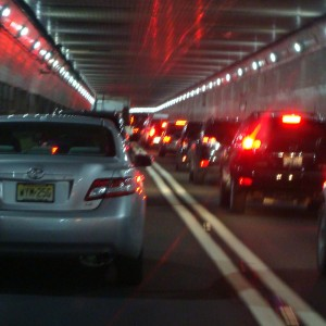 In the Lincoln Tunnel