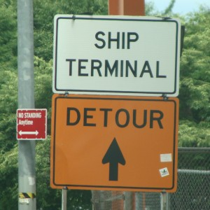 Follow the signs to the terminal