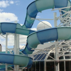 The waterslide