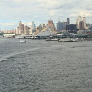 Leaving the Manhattan Cruise Terminal behind