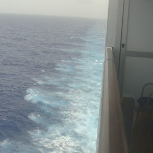 2nd Sea Day - view from our balcony