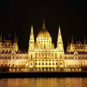 Close Up Detail of the Parliament Building in Budapest, Hungary
