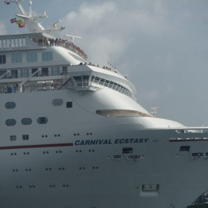 Carnival Ecstasy arrives in Nassau