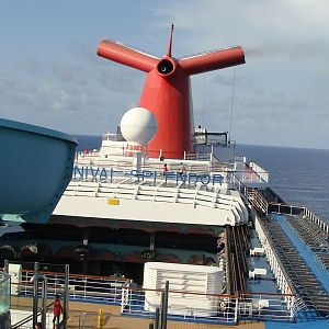 Looking aft from Deck 12