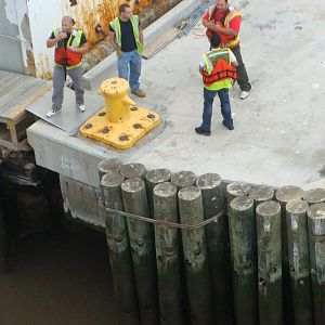 Docking at Pier 90