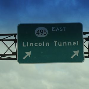 Lincoln Tunnel sign