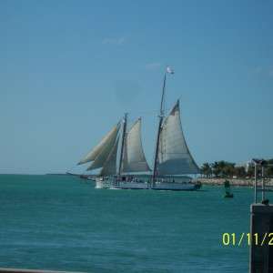 Ship off cost of Key West