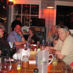 Maw's Photo. Pre-cruise dinner at the 15th st. Fishery