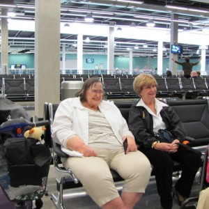 Maw's photo. Waiting to board